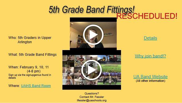 5th Grade Band Info